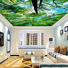 Wongxl 3D Holzdecke Decke Tapete Schlafzimmer