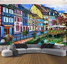 Wongxl 3D Wandbilder Tapete Stadtansicht Tv Im