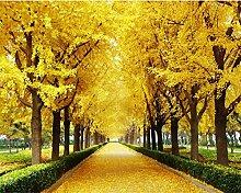 Wongxl Custom 3D Wallpaper Herbst Ahorn Blätter