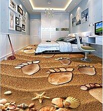 Wongxl Der Strand, Malerei Footprints 3D