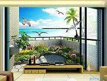 Wongxl Ein Großes Wandbild Scenic Balkon Tv