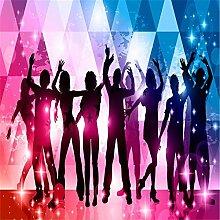 Wongxl Tapete 3D-Romantische Musik Thema Nachtclub