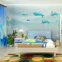 Wongxl Unterwasserhandgemalte Einfarbige Blaue