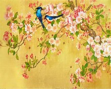 Wongxl Zimmer Dekorative Tapete Magnolienblüte
