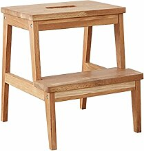 Wood 2 Steps Treppenhocker Footstool Gummi Natural