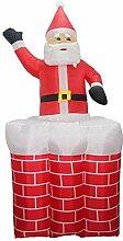 Wood.L Aufblasbarer Weihnachtsmann Nikolaus 1.5m