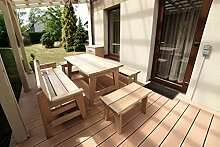 WOOD LINE Woodline Gartenmöbel-Set mit Schrank