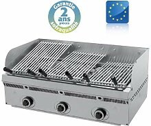 Wood steack grill gaz inclinable - L 900 mm