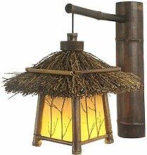 Wooden Indoor Dekorative Wandleuchte, Vintage