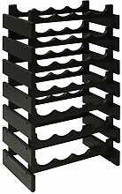 Wooden Mallet Bottle Dakota Wine Rack, Black
