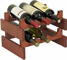 Wooden Mallet Holzhammer 3-Bottle Dakota Weinregal