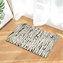 Wooden Style Bath Rugs by MMPTN Freihand