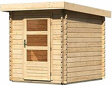 Woodfeeling 28 mm Blockbohlen Gartenhaus Bastrup 1