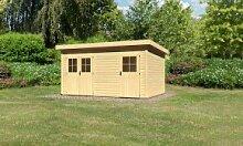 Woodfeeling Holz-Gartenhaus Mattrup Flachdach 28