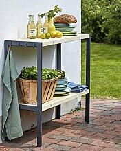 Woodinis Multifunktionstisch FUNKIS 103x37x90 cm im Garten - Woodinis-Spielplatz®