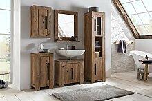 Woodkings® Bad Set Auckland Echtholz Akazie massiv Badmöbel Set Badezimmerset Badschrank Set Bad Design Massivholz
