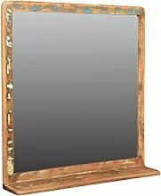 Woodkings Bad Spiegel 70x70cm Kalkutta Holz bunt