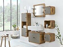 Woodkings® Badmöbel Set Dingle Holz Pinie