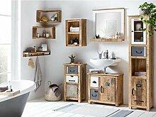Woodkings® Badmöbel Set Pune Holz massiv