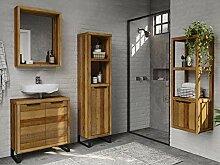 Woodkings® Badmöbel Set Sydney 4teilig, massiv