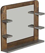 Woodkings® Badspiegel Dingle Holz Pinie Natur