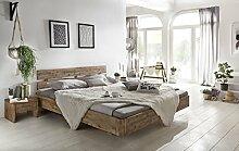 Woodkings Bett 180x200 Hampden Doppelbett Akazie Weiß Gebürstet Schlafzimmer Massivholz Design Doppelbett Schwebebett Massive Naturmöbel Echtholzmöbel Günstig