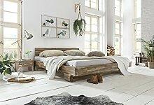 Woodkings Bett 180x200 Mayfield Doppelbett Akazie rustic Schlafzimmer Massivholz Design Doppelbett massive Naturmöbel Echtholzmöbel günstig