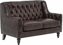 Woodkings® Chesterfield Sofa Stafford 2-Sitzer