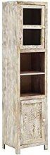 Woodkings® Hochschrank Bitna Holz rustikal Mango