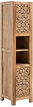Woodkings® Hochschrank Katha Holz rustikal Akazie