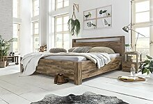 Woodkings® Holz Bett 180x200 Havelock Doppelbett Akazie rustic Schlafzimmer Massivholz Design Ehebett Balkenbett massive Naturmöbel Echtholzmöbel günstig