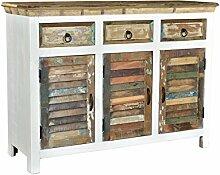 Woodkings® Sideboard Perth weiß, 3türig,