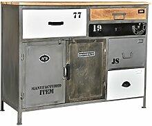 Woodkings® Sideboard Pinetown Metall recyceltes