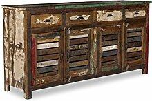 Woodkings® Sideboard Wakefield 4tür, recyceltes