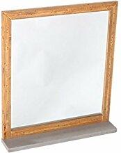 Woodkings Spiegel 80x70cm Burnham Echtholz Pinie