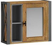 Woodkings® Spiegelschrank Detroit mit Ablage,