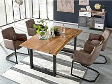 Woodkings Tischgruppe Clinton, Esstisch 170x90 mit
