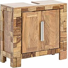 Woodkings® Waschbeckenunterschrank Baddi Holz