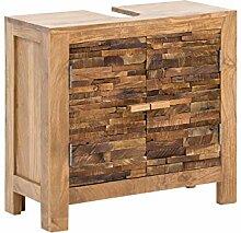 Woodkings® Waschbeckenunterschrank Holz Akazie