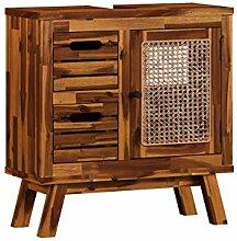 Woodkings® Waschbeckenunterschrank Surabaya Holz