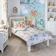 Woodland Animals Einzelbett Bettdecke und