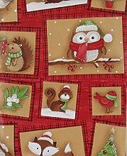 Woodland Creatures Weihnachten Patchwork Vinyl