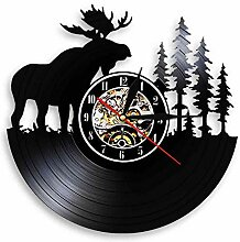 Woodland Deer Wall Decor Retro Schallplatte