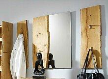 Woodline Garderobenpaneel Eiche massiv sägerau