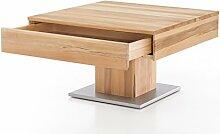 Woodlive Massivholz Couchtisch quadratisch aus
