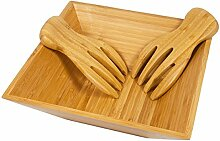 woodluv 100% Bambus Holz Salat Pasta Hobby mischen