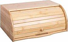 woodluv Holz-Brotkasten mit Rolldeckel, Brotkasten