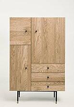 Woodman Jugend Highboard, Holz, Eiche