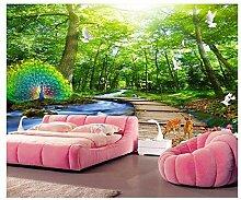 Woods Pfad Grün Hauptwanddekor Wohnzimmer