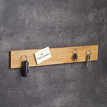 WOODS Schlüsselbrett Holz magnetisch I